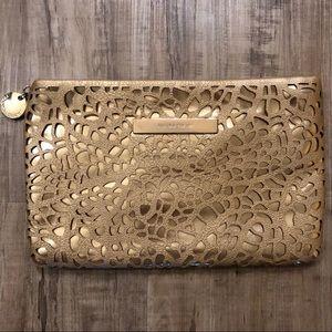 Ivanka Trump gold patterned clutch